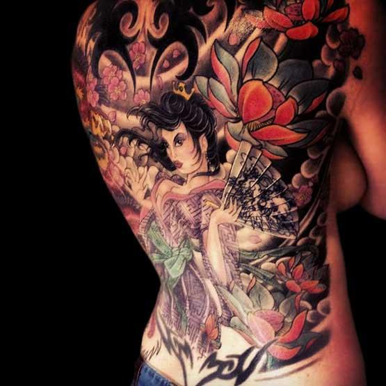 Full Back Tattoos Girls
