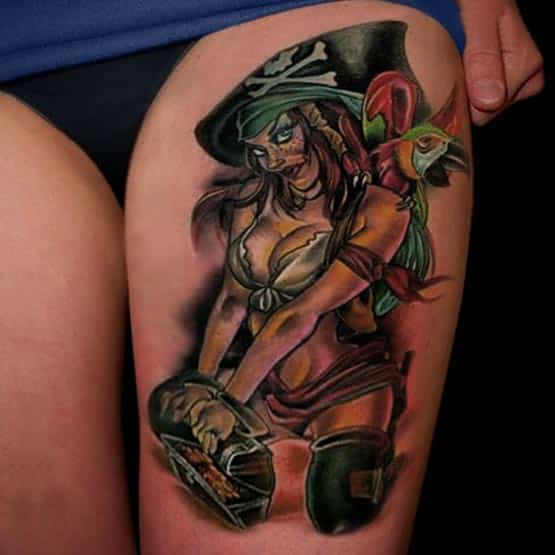 Pirate Girl Blood Pudding Tattoo