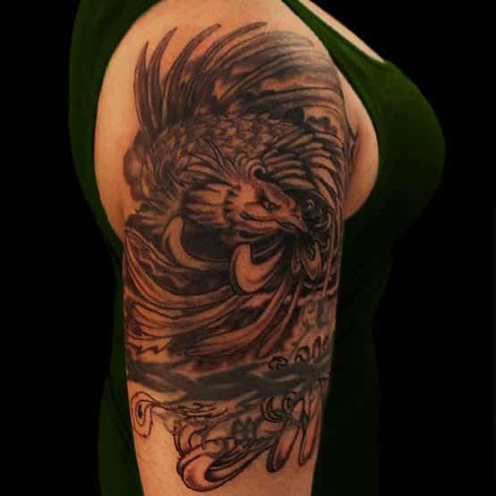 Phoenix Half Sleeve Tattoo Designs For Women