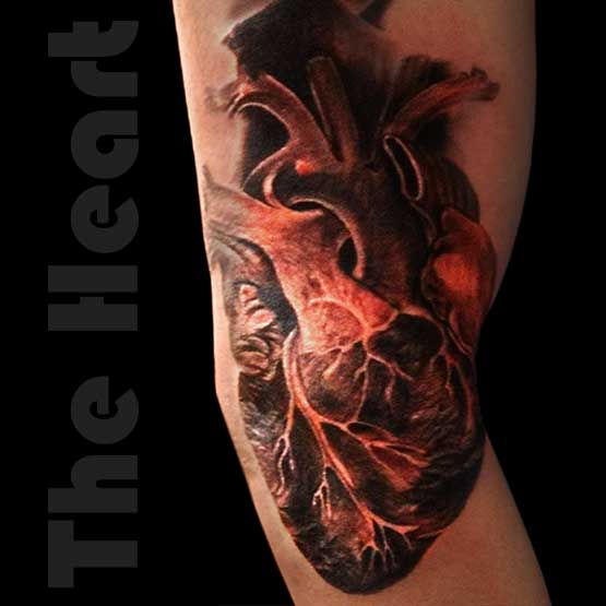 Realistic Heart Tattoo Pictures