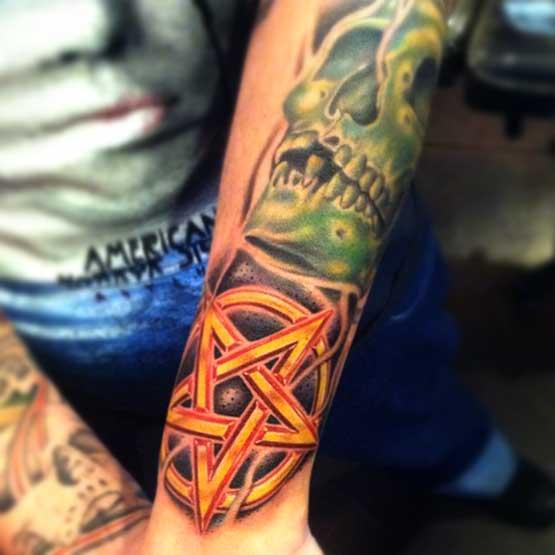 Best Yellow Star Tattoo Designs On Wrist