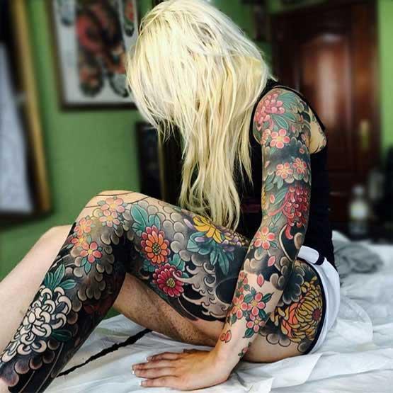 Full Body Tattoo Girl Images