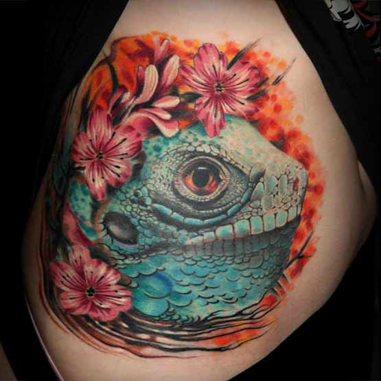 Best Iguana Tattoo Ever