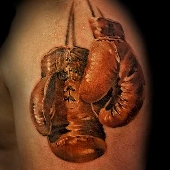 Boxing Gloves Tattoo Symbol