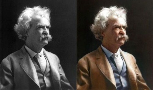 Mark Twain colored photo