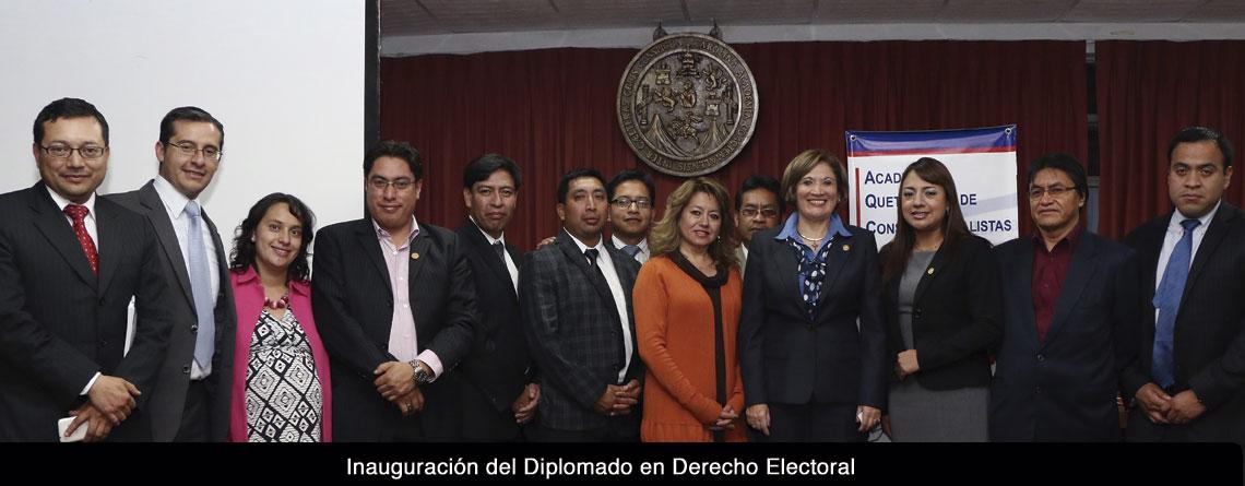 Inauguración del Diplomado en Derecho Electoral