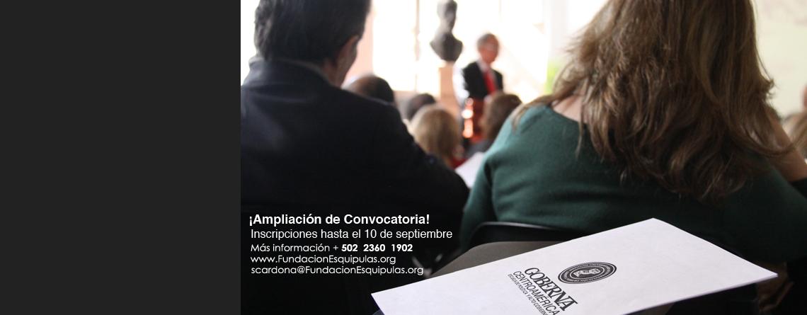 Goberna Centroamérica – Convocatoria 2014