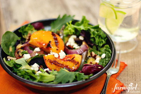 grilled peach salad recipe