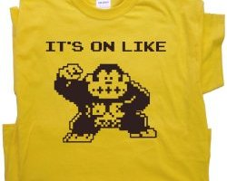 gamer t-shirts, funny gamer shirts, it's on like donkey kong shirt, classic video games, gifts for gamers