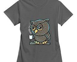 coffee owl, coffee shirt, sleepy expression shirts