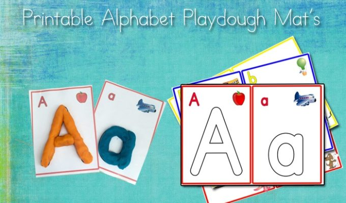 Play Dough Mats, Alphabets, Numbers, and Arabic Numbers