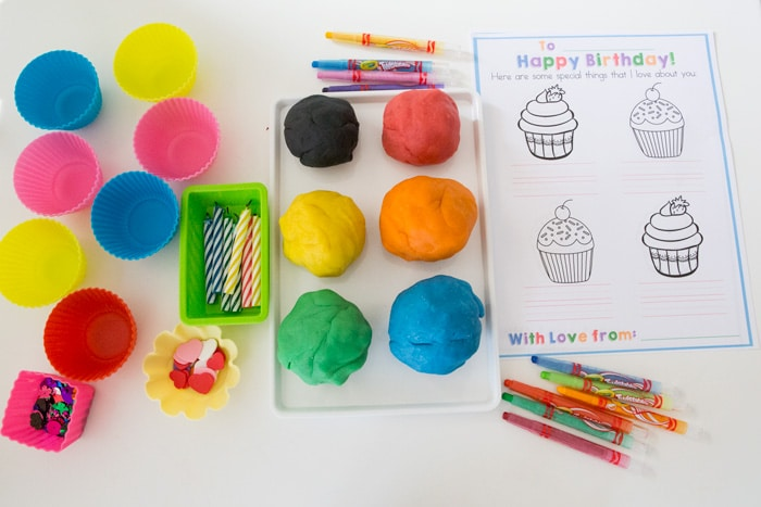 Playdoh Birthday Cupcakes and Card