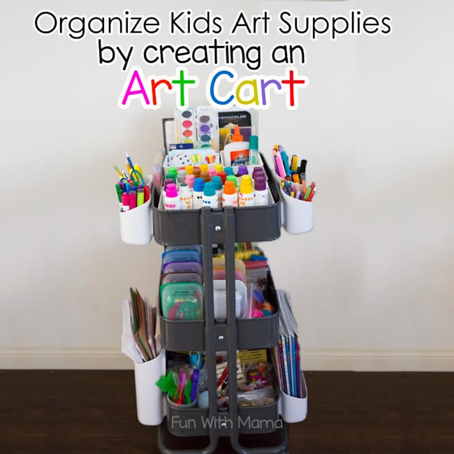 Organize Kids Art Supplies With an Art Cart