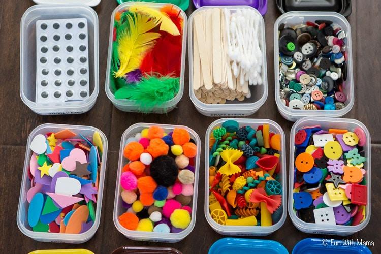 Supplies on Preschool Fingerpaint