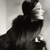 Lisa Fonssagrives strikes a stunning pose in fur