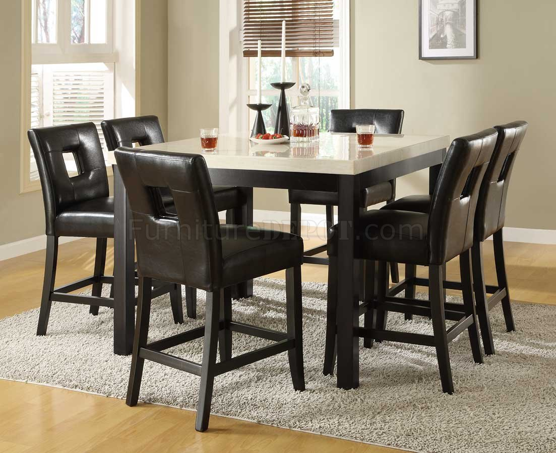 black counter height dining table wfaux marble top options p high kitchen table