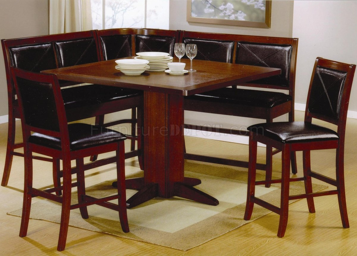 lancaster counter height 6pc dinette set with options by coaster p high kitchen table sets Lancaster Counter Height 6Pc Dinette Set with Options by Coaster