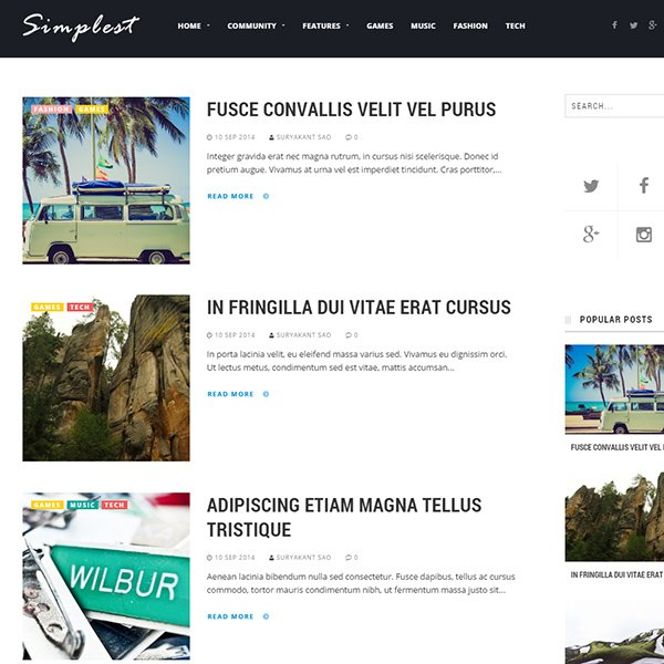 Simplest Blogger Template