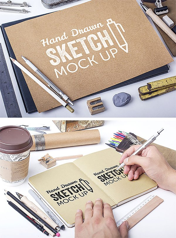 Free Hand Drawn Sketch Mockups