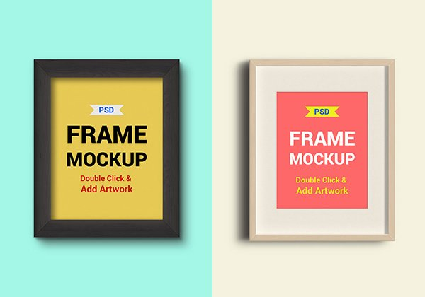 Photo Frames PSD Mockups