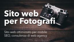 Promozione creazione sito fotografi