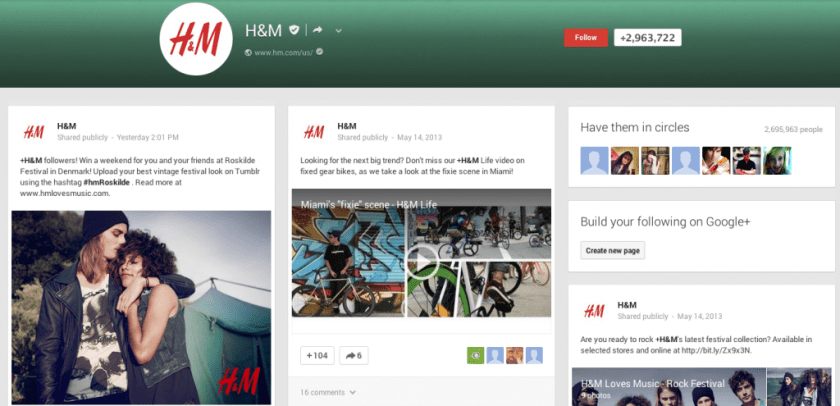 Google+ Seiten - Feed Redesign