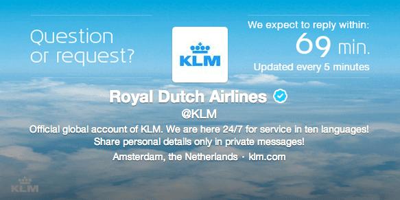 Kundensupport Twitter KLM