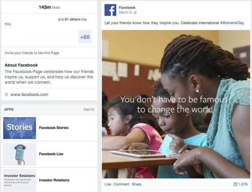 Facebook Seiten Neues Design - Tabs