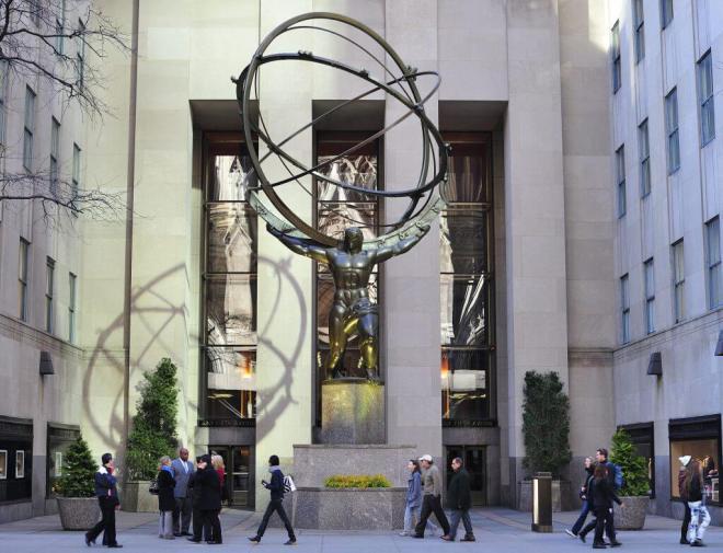 Atlas Statue in Rockefeller Center, NYC