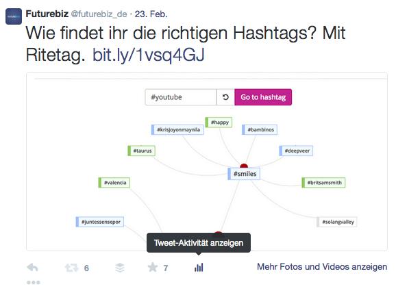 Twitter Statistiken - Tweet-Aktivität im Web öffnen