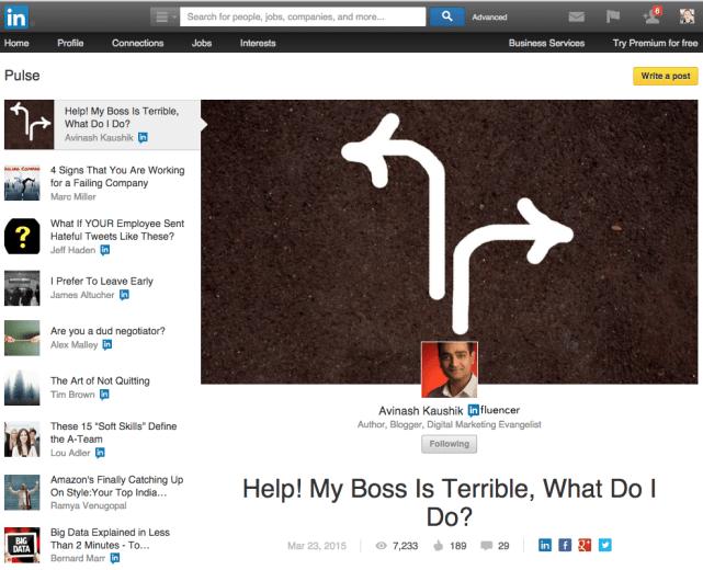 LinkedIn Pulse - Content Marketing direkt auf LinkedIn