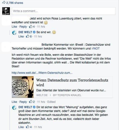 Community Management auf Facebook - Konfrontation statt Diskussion