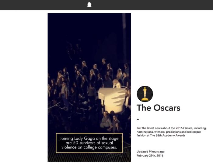 Snapchat veröffentlicht Web-Version zu den Oscars II