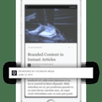 """Branded Content für Facebook Instant Articles. Klare Kennzeichnung von """"gesponserten Inhalten""""."""