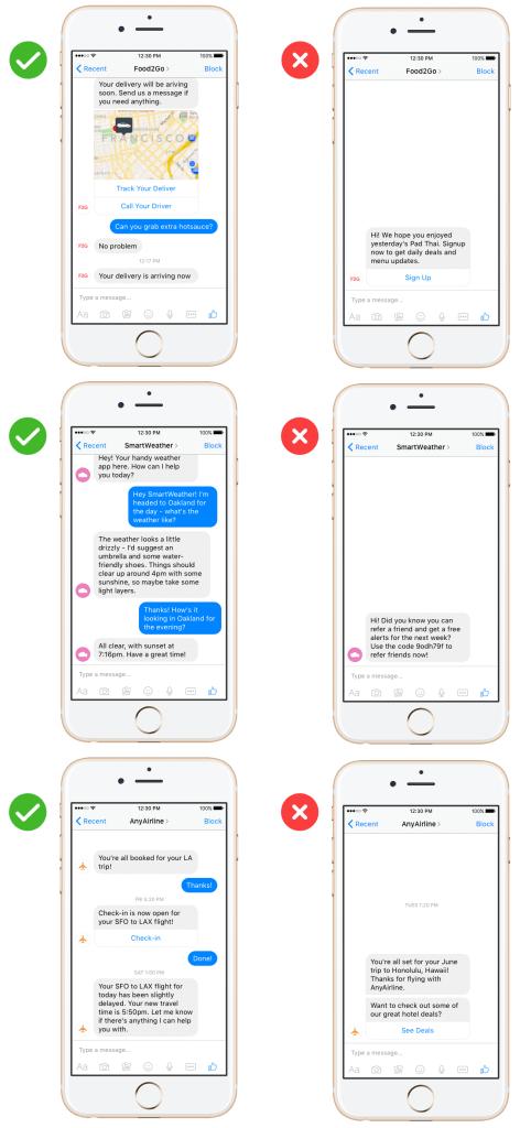 Facebook Messenger Bots - Verbot von Gewinnspielen und werblichen Inhalten