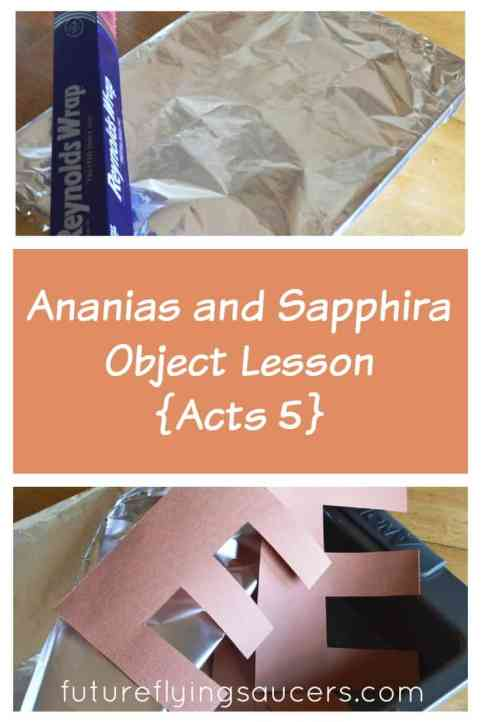 Ananias and Sapphira Object Lesson