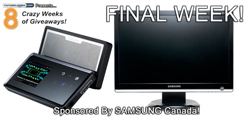 Time To Giveaway The Samsung 20 Inch Widescreen LCD Monitor and 4GB MP3 Player!