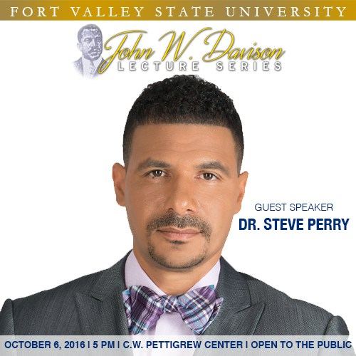 John W. Davison Lecture Series begins with guest Dr. Steve Perry