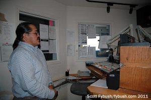 Ray Tsosie in the studio