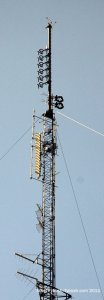 The WIKY and WABX antennas