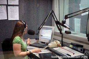 WSWI's news booth