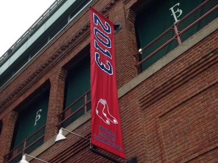 The newest banner at Fenway (photo: Shawn O'Domski)