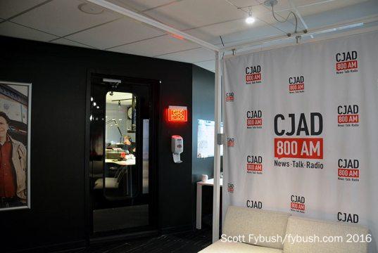 CJAD's studio