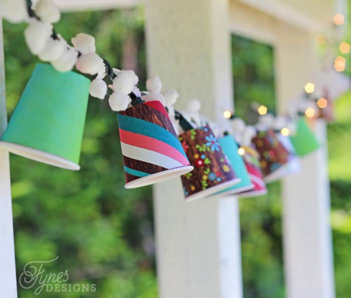 Colourful DIY Patio Lanterns- super easy to make