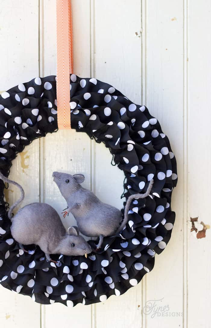 The Rats invaded this pretty Halloween wreath!