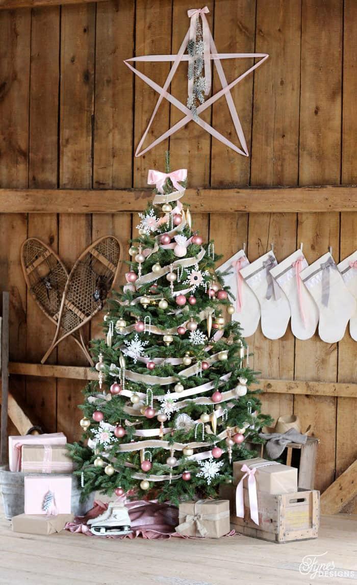 Feminine Rustic Christmas Tree Fynes Designs Fynes Designs