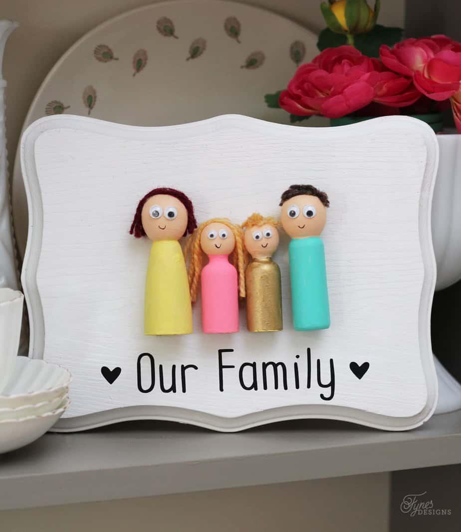 Kids Craft- Peg Doll Family