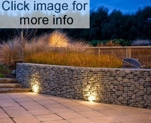 night gabion retaining wall
