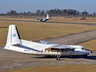 Transportes de las I y II Br Aé, el KC-130H TC-69 y el F.27 Mk.400M TC-79 (foto: Esteban Brea).