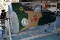 Los restos del Dagger C-427 convertidos en simulador por los alumnos del IPEM 258 (foto: Marcelo Mustone).